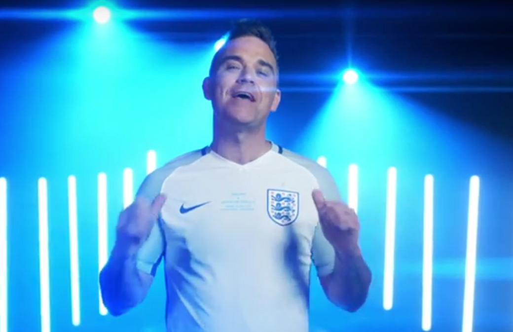 Robbie Williams recrute son équipe de foot!